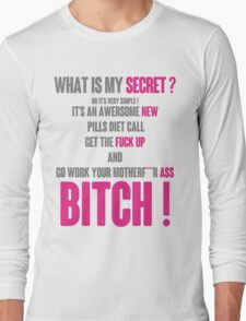 WHAT IS MY SECRET ? GREY&PINK Long Sleeve T-Shirt
