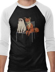 Grumpy Cat and Fox Men's Baseball ¾ T-Shirt