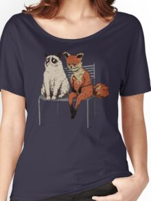 Grumpy Cat and Fox Women's Relaxed Fit T-Shirt