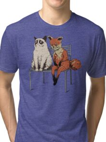 Grumpy Cat and Fox Tri-blend T-Shirt