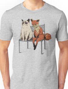 Grumpy Cat and Fox Unisex T-Shirt