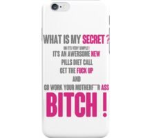 WHAT IS MY SECRET ? GREY&PINK iPhone Case/Skin