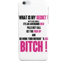 WHAT IS MY SECRET ? BLACK&PINK iPhone Case/Skin