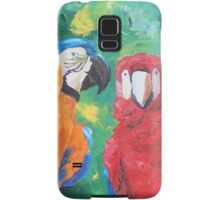 Macaw Parrots Chatter Boxes - Vertical - Samsung Samsung Galaxy Case/Skin