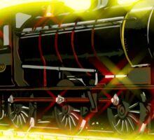 Classic British train locomotive, modern style Sticker