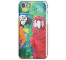 Macaw Parrots Chatter Boxes - Vertical- iPhone iPad iPhone Case/Skin