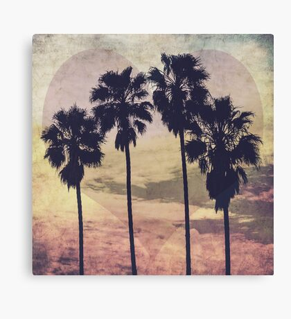 Heart and Palms Canvas Print