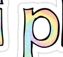 Pi Phi Tie Dye Sticker