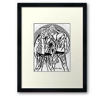 Hot Dude - The Boys - Wh/Blk Framed Print