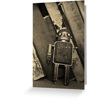 Old Robot Greeting Card