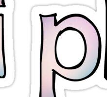 Pi Phi Fade Sticker