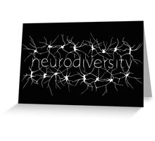 Neuron Diversity - White and Black Greeting Card