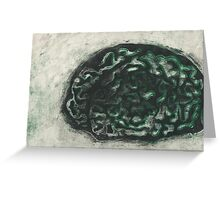 """Turned"" brains Greeting Card"