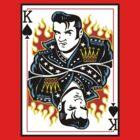 Rockabilly Elvis Playing Card by stiffwagonLTD