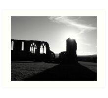 Whitby Abbey, Black & White Art Print