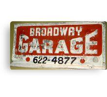 Garage Grunge Canvas Print