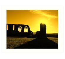 Whitby Abbey, Gold Art Print