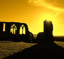 Whitby Abbey, Gold by VonRooke