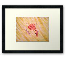 Be A Cartoon Heart Framed Print