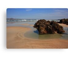 Beach At Ards Forest Park Canvas Print