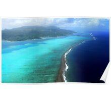 Coral Reef - Tahitian Island Poster