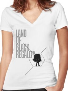 4 Lands - Black Women's Fitted V-Neck T-Shirt