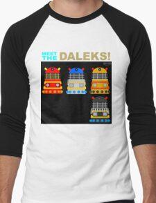 Meet the Daleks Men's Baseball ¾ T-Shirt