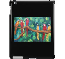 Colorful Red Blue Yellow Parrots - iPhone iPod iPad iPad Case/Skin