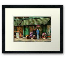 City - Canandaigua, NY - Buyers delight Framed Print