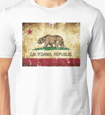 California Republic Flag Rustic  Unisex T-Shirt