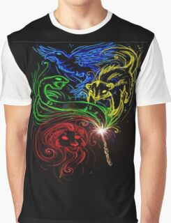 Harry Potter Hogwarts Houses Graphic T-Shirt