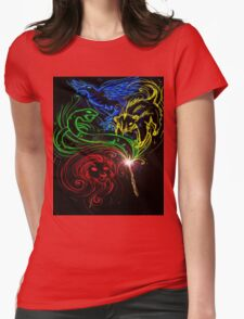 Harry Potter Hogwarts Houses Womens Fitted T-Shirt