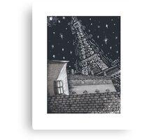 Starry City Canvas Print