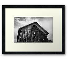 Old Barn - Black and White Framed Print