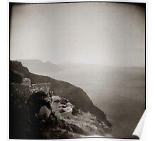 { Santorini Coastline } Poster