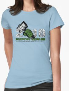 Scientist & Viking god of Thunder Womens Fitted T-Shirt