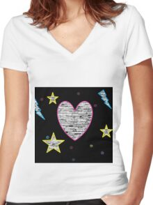 Kitten Love Women's Fitted V-Neck T-Shirt