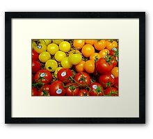 Multi Colored Tomatoes Framed Print