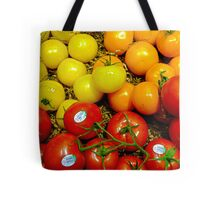 Multi Colored Tomatoes Tote Bag