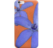 Silky Blue Orchid with Web iPhone Case/Skin