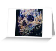 Ultraviolet Skull Greeting Card