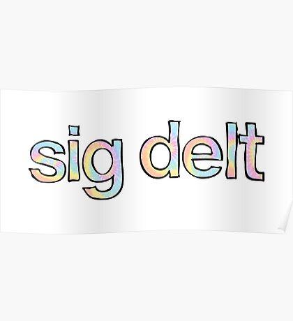 Sig Delt Tie Dye Poster