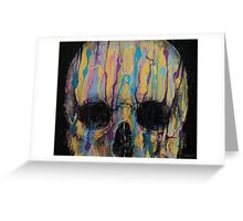 Psychedelic Skull Greeting Card
