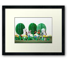 Robotic Love Framed Print