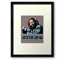 Big Lebowski Philosophy 26 Framed Print