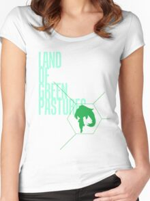 4 Lands - Green Women's Fitted Scoop T-Shirt