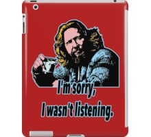 Big Lebowski Philosophy 28 iPad Case/Skin