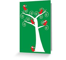 Christmas Birds in a Tree Greeting Card