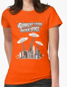 Anarchy From Outer Space Womens Fitted T-Shirt