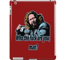 Big lebowski Philosophy 30 iPad Case/Skin